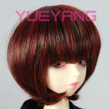 New style red and black layered doll wig