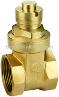 Brass Magnetic Locking Gate Valve For Water Meter(CE,ISO9001 Approved)