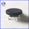 10mm rotary encoder with black plastic roller , ec10 volume control rotary encoder switch