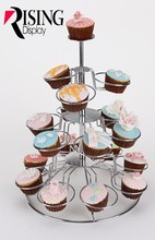 Metal 3 Tier Acrylic Eiffel Tower Cupcake Stand