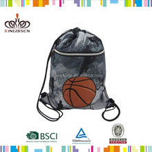 Baseball/Basketball/ football Sport Theme sling drawsting backpack gym bag