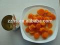En lata zanahoria preservación comida instantánea vegetariana