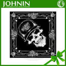 OEM 2015 printed pattern promotional cotton customized skull bandana