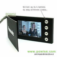 paper craft video brochure/LCD video greeting card