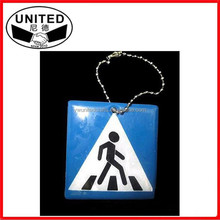 Side walk Reflective pendant,Reflective keychain for visible safety dangled on bag,cell phone,clothing.