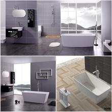 Tamaño personalizado artificial piedra resina bañera, bañera independiente ( KKR-B043 )