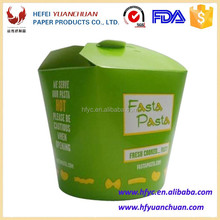 Fast food pasta box disposable take away paper packaging