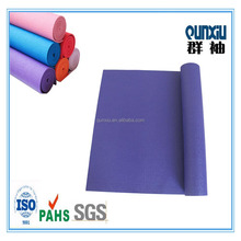 Folding and washable PVC foam print non slip yoga mats with high quality manufcturer