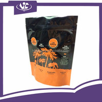 Color Printing Opaque Food Grade Ziplock Aluminium Foil Packaging Bags Zipper Stand Up Pouch For Coffee Bean