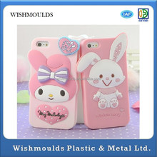 Purple Fancy 3D Animal shape Design Moblie Phone Silicon Case custom made Injection Mould plastic molding