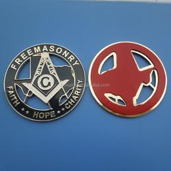 New Masonic Master Mason Cut out Car Auto Emblem Gold and Black