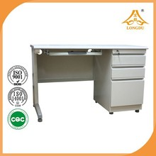 Wooden partical board with melamine surface Material and Office Furniture Type table with side cabinet