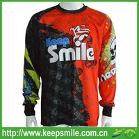 Custom and Sublimated Long Sleeve Motorcycle Jersey for Sports