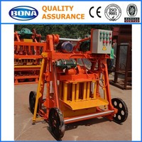 QTJ4-45 portable manual concrete hollow block making machine