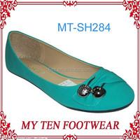 Wholesale Cheap Green Women Rubber Flat Shoes