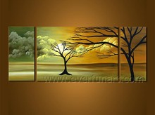 Handmade new style tree canvas oil painting