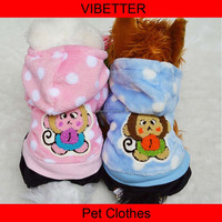 H110 2015 hoodies with monkey design nice Winter Cotton Coat hot pet dog clothes
