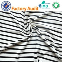 Black and white stripe 95%RAYON 5%spandex 32s+40D 245gsm RAYON FABRIC
