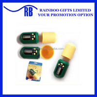 Hot selling plastic pill shape travel portable electronic medicine box with timer