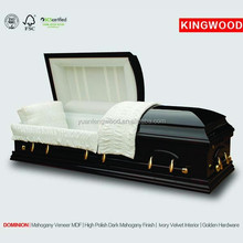 DOMINION funeral casket price and hand carved wooden casket