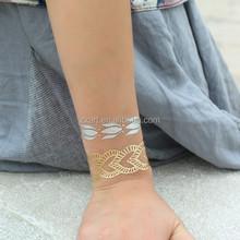 Hot new tattoo Metallic tattoo arm sleeve tattoo