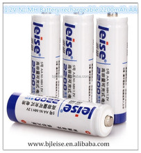 2200 mAh AA rechargeable 1.2V NI-MH battery for Camera ,baby toy car,hand held game,microphone