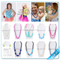 BPA Free Food Grade Silicone Jewelry Baby Teething Necklace Bead