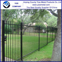 2015 New product outdoor Decorative Wrought Iron fence /economic iron fence price design