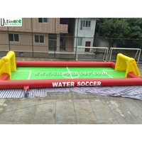 Big inflatable water soccer field for adults n children playing water soccer FOR SALE