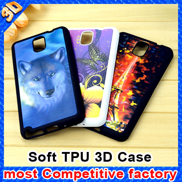 Hot selling soft TPU 3d phone case for samsung galaxy s5 case
