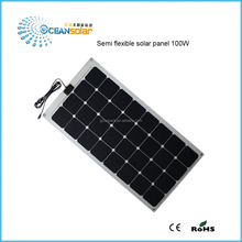 hot sale 20-100W Sunpower Semi Flexible Solar Panel for RV BOAT Marine