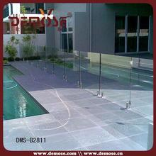 glass panels pool fence/low price high quality tempered glass pool fence