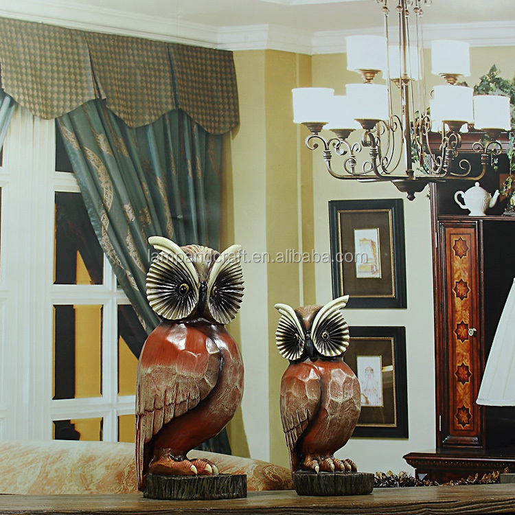 2016 Wholesale Classical Resin Night Owl Home Decor With