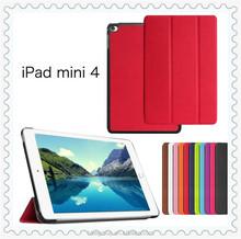 Smart leather folio cover case for Apple iPad mini 4 tablet Protector Skin for iPad mini4 Smart Cover