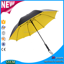 High Quality straight cheap rain umbrellas bright Nice yellow golf umbrella