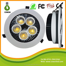 New Designed CE Rohs 230V CRI80 25W Adjustable LED Recessed Downlights White Housing LED Downlight for Hotel lighting