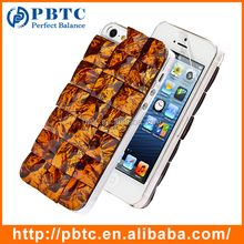 Set Screen Protector And Case , Hard Plastic Brown Bling Diamond 3D Crystal Case For Iphone 5