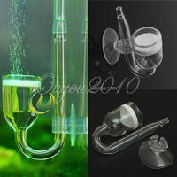 2015 Newest Best Promotion Fish Cystal Glass CO2 Diffuser with Suction Cup for Fish Tank Aquarium Skimmer Plant