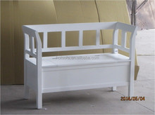 2015 elegant design wooden indoor bench ,bench with handrail and backrest