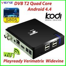 VENZ K1 Quad Core Android DVB T2 1080P Set Top Box DVB-T2 Receiver TV Box 1GB RAM 8GB ROM Playready Verimatrix Widevine
