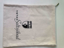 high quality Natural color cotton canvas cosmetic bag with personalized design accepted
