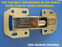 2000 Mignon concealed hinge easy-on hinge ,frog hinge with