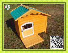 Beautiful wooden dog kennel wholesale with belcony XD 013
