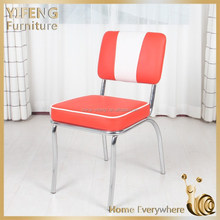 2015 new design visitor bazhou metal leg faux leather dining chair