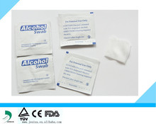 CE approval 70% isopropyl alcohol pad , Non woven alcohol prep pad