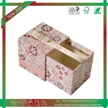fashionable custom printing high quality packaging sliding paper drawer box for gift