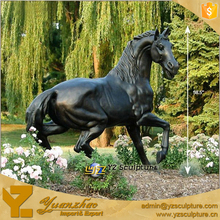 Western life size Bronze or Brass Art Sculpture Metal Horse Carving