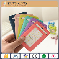 candy color silicone soft pvc plastic keyt bus bank id card cover