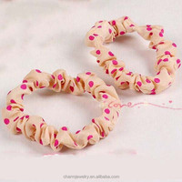 Upscale Korean hair accessories mixed cute rubber band Polka Dot models head flower headdress wholesale elastic hairband XN056