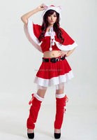 Sexy Santa Christmas Xmas Women Fancy Dress Costume Party Suit Outfit